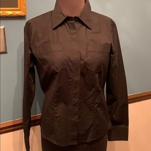 2/$30 NWT Westbound black button down top